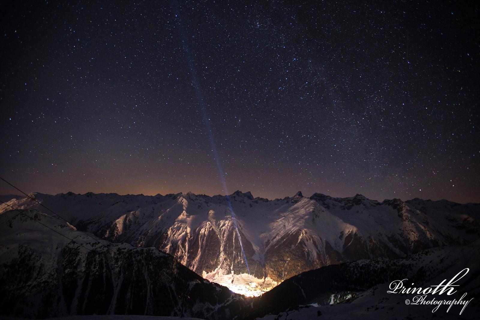 Sternenhimmel über Ischgl