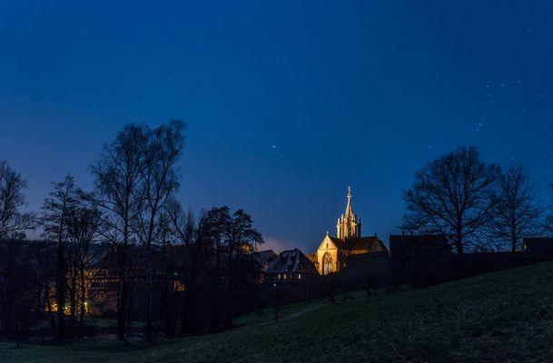 Sternenhimmel über Kloster Bebenhausen