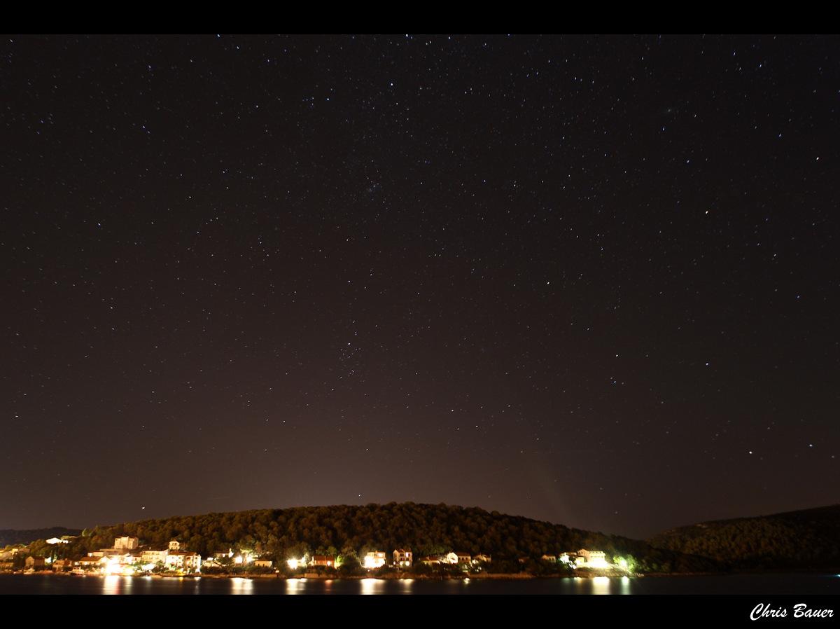 Sternenhimmel über Tisno
