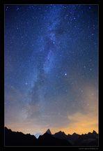 Sternenmeer über dem Mt. Blanc