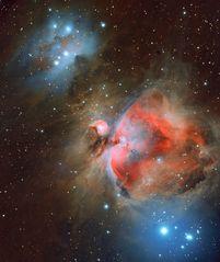 """Sternenstaub - Orionnebel u. """"Running Man"""""""