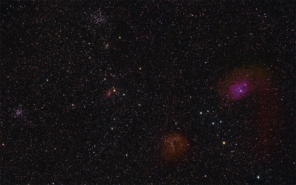 Sternhaufen un Nebelfetzen im Fuhrmann