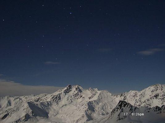 Sternklare Nacht, auf 2.800, -15 Grad, Jagatee und ne Kamera
