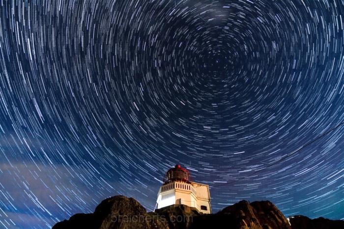 Sternklare Nacht auf der Leuchtturminsel