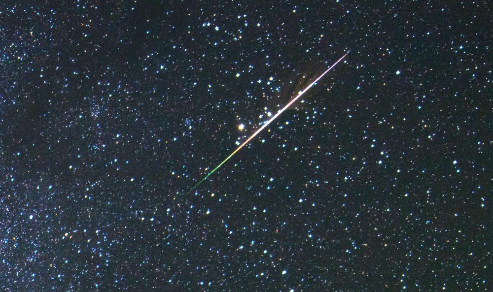Sternschnuppe vom Halleyschen Kometen