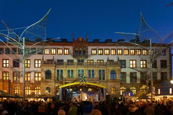 Sternschnuppenmarkt vor Eröffnung