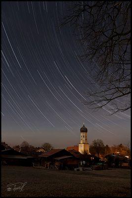 Sternspuren über Aying