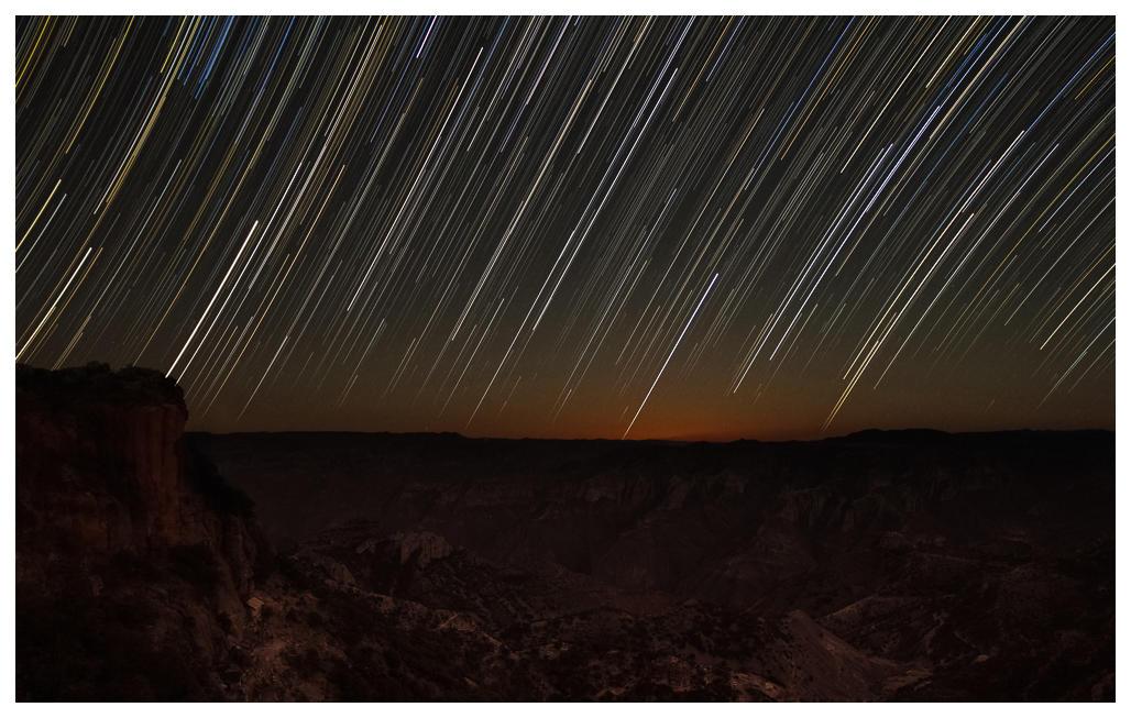 Sternspuren über dem Kupfercanyon