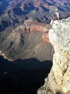 Stets am Abgrund (des Grand Canyons)