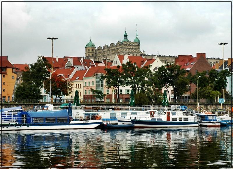 Stettiner Schloss an der Odra Zachodnia