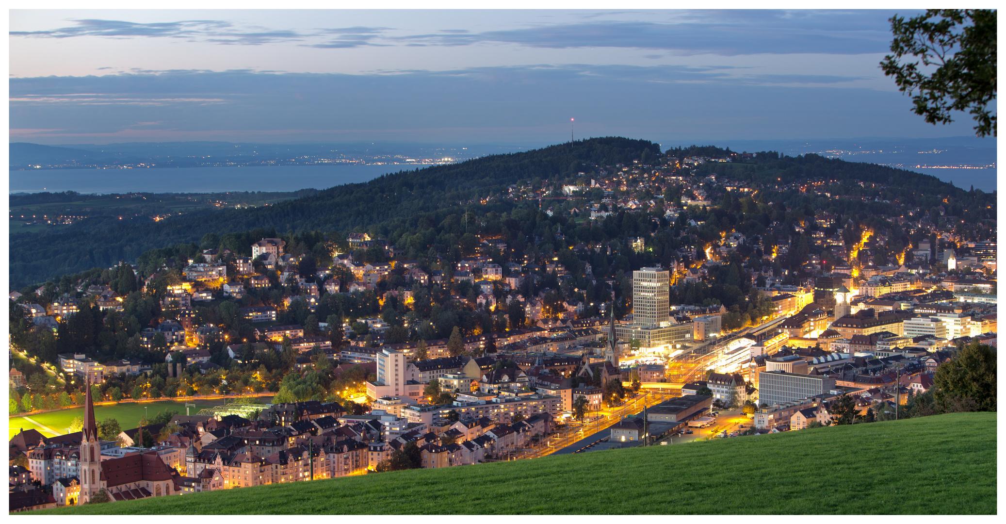 St.Gallen in der Abenddämmerung