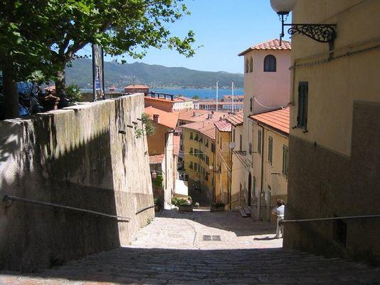 Stiege in Portoferreio / Elba