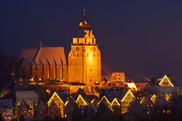 Stiftskirche im Winter