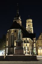 Stiftskirche Stuttgart Sicht vom Schillerplatz
