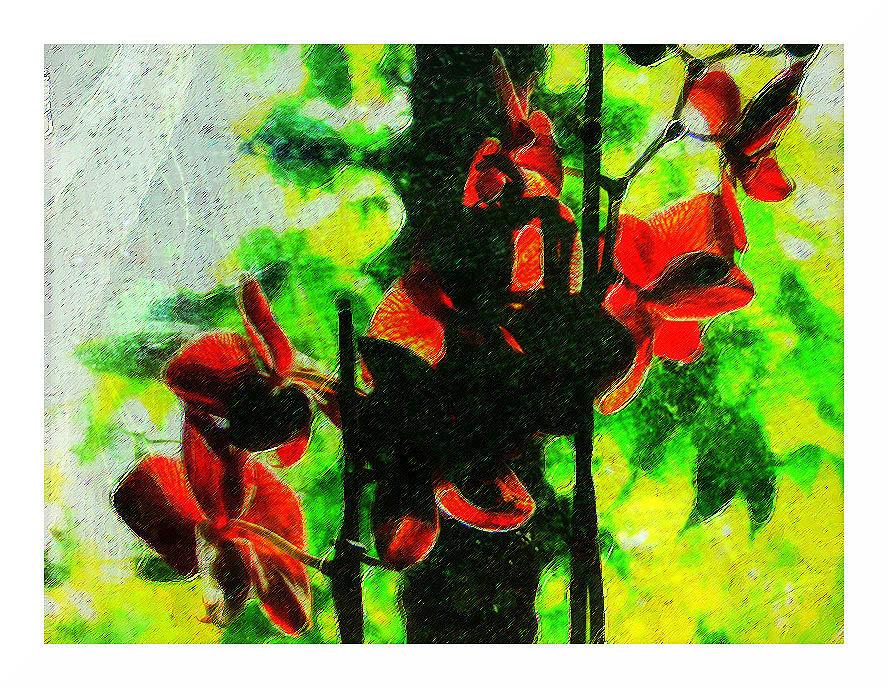 stilisierte Orchideen