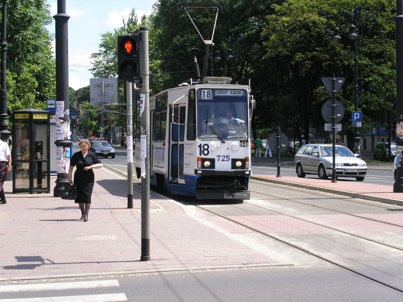 Still-Leben einer Straßenbahn