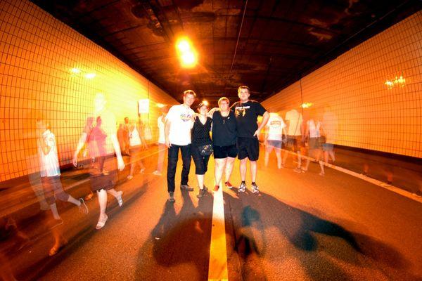 Still-Leben im Ruhrschnellweg-Tunnel