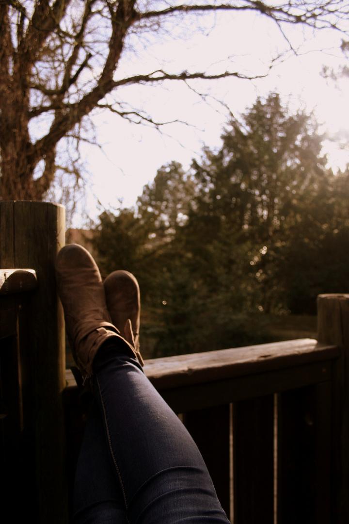 Still & leise saß ich da....