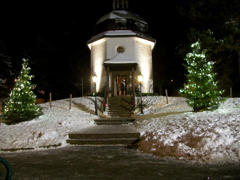 Stille Nacht Kapelle, in der Stille, vor Weihnachten