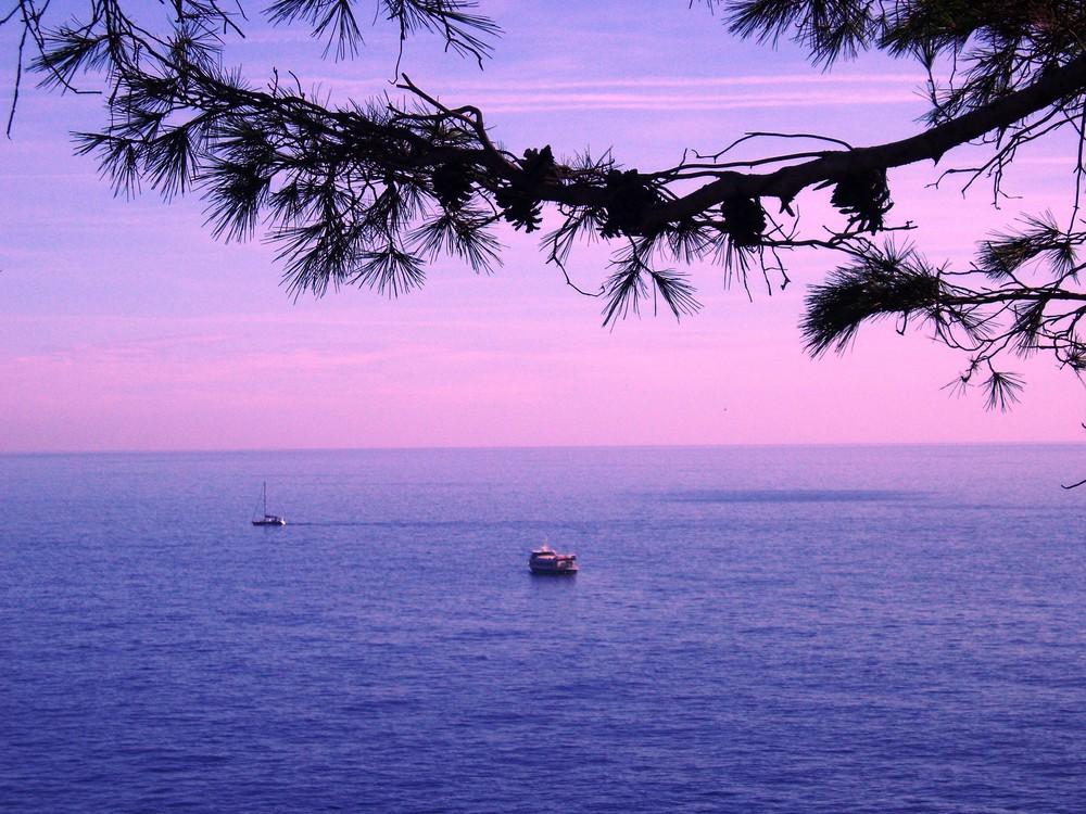 Stille über dem Meer