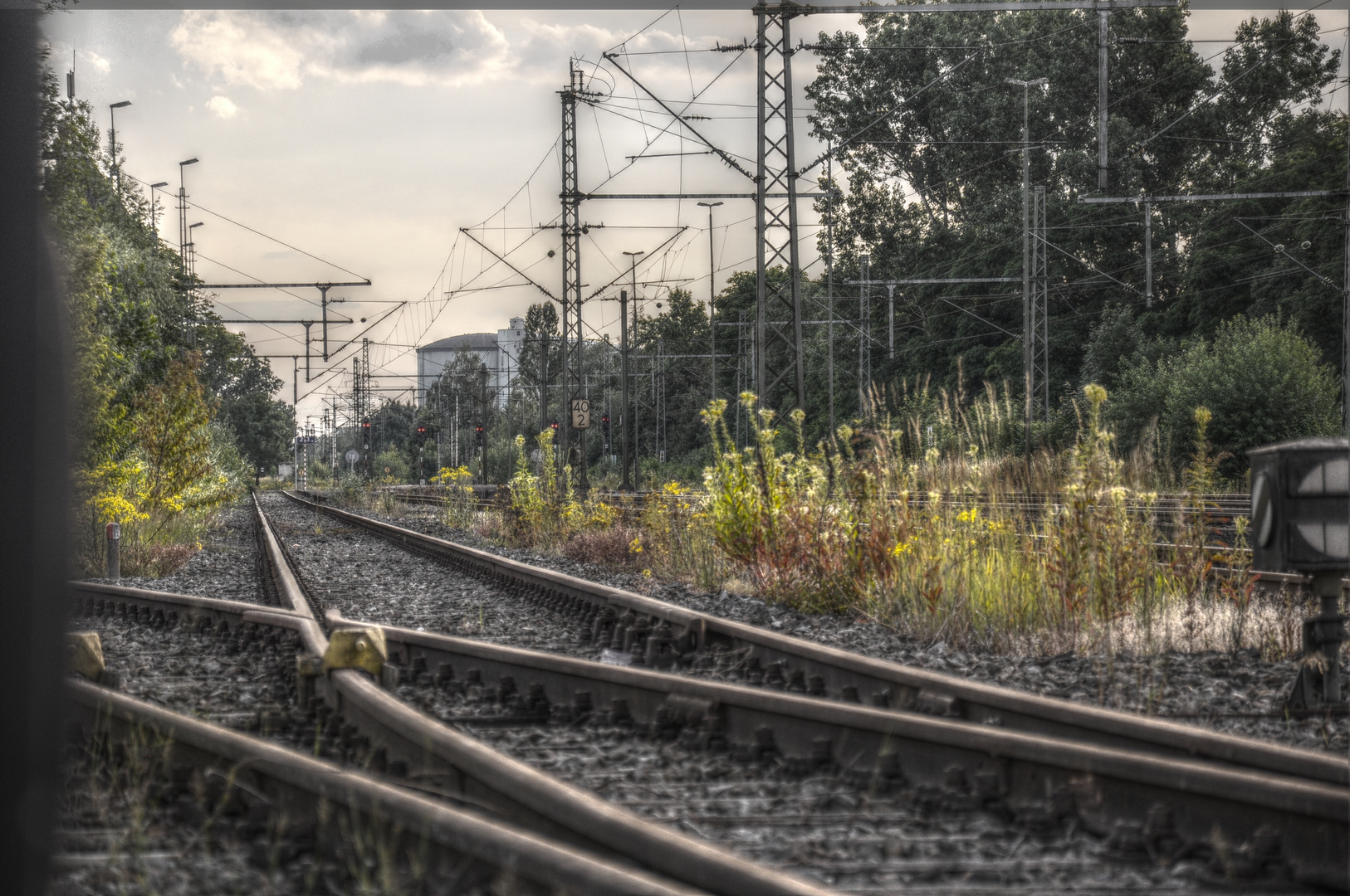 Stilleben am Bahngleis