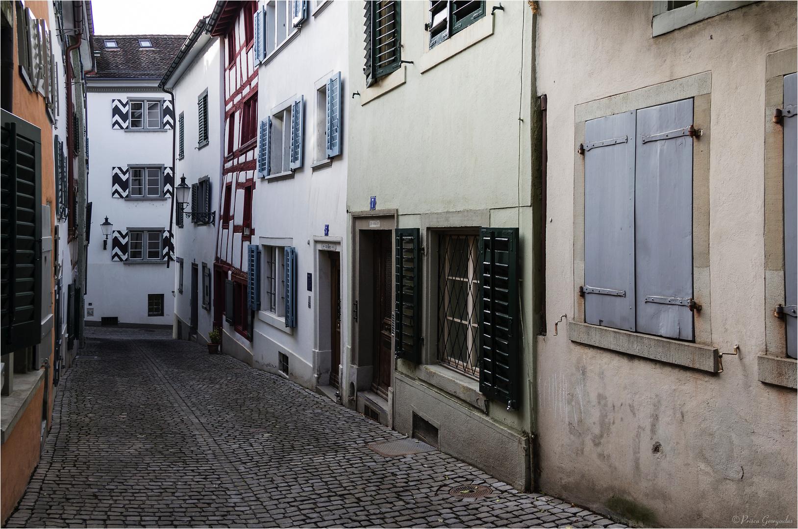 Stilles Gässchen im Zürcher Oberdorf