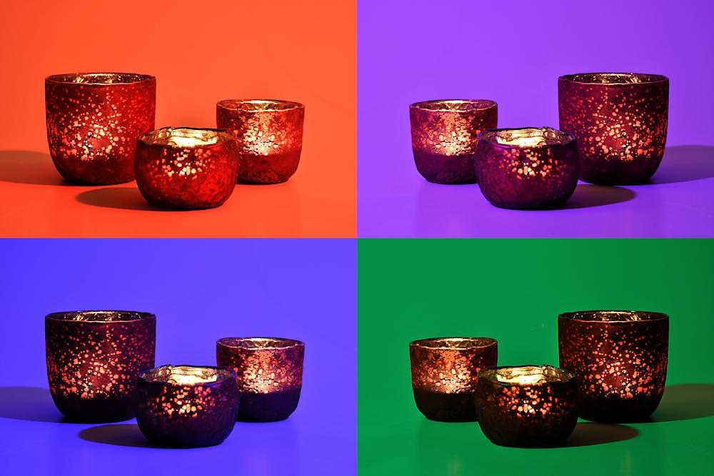 Stillleben mit Kerzenbechern