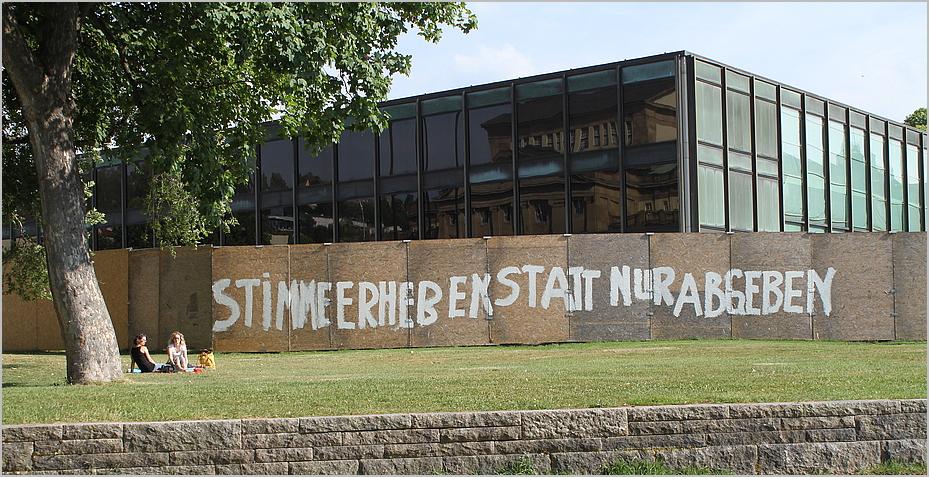 STIMME ERHEBEN Graffitti