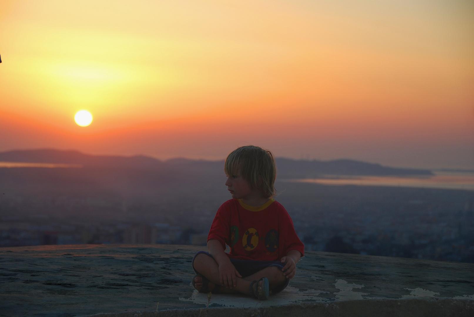 Stimmung im Sonnenuntergang