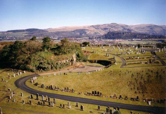 Stirling Castle - Blick auf den Friedhof...