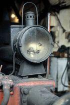 Stirnlampe einer türkischen Dampflokomotive