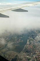 Stockholm aus dem Flugzeug