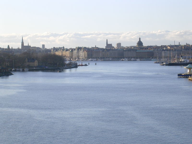 """Stockholm; das Wasser """"liegt Dir"""" zu Füssen..."""