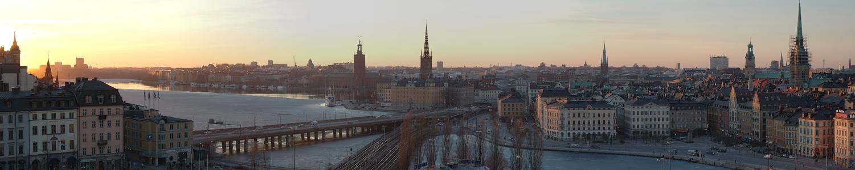 Stockholm im Abendlicht
