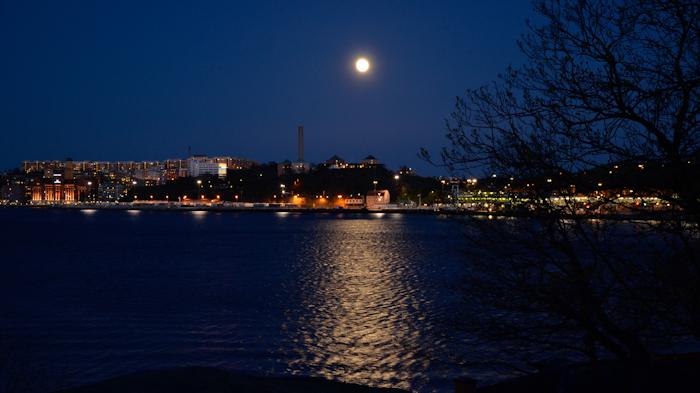 Stockholm im Mondschein ...