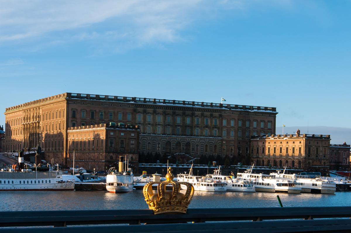 Stockholm im Winter - Blick auf das königliche Schloss