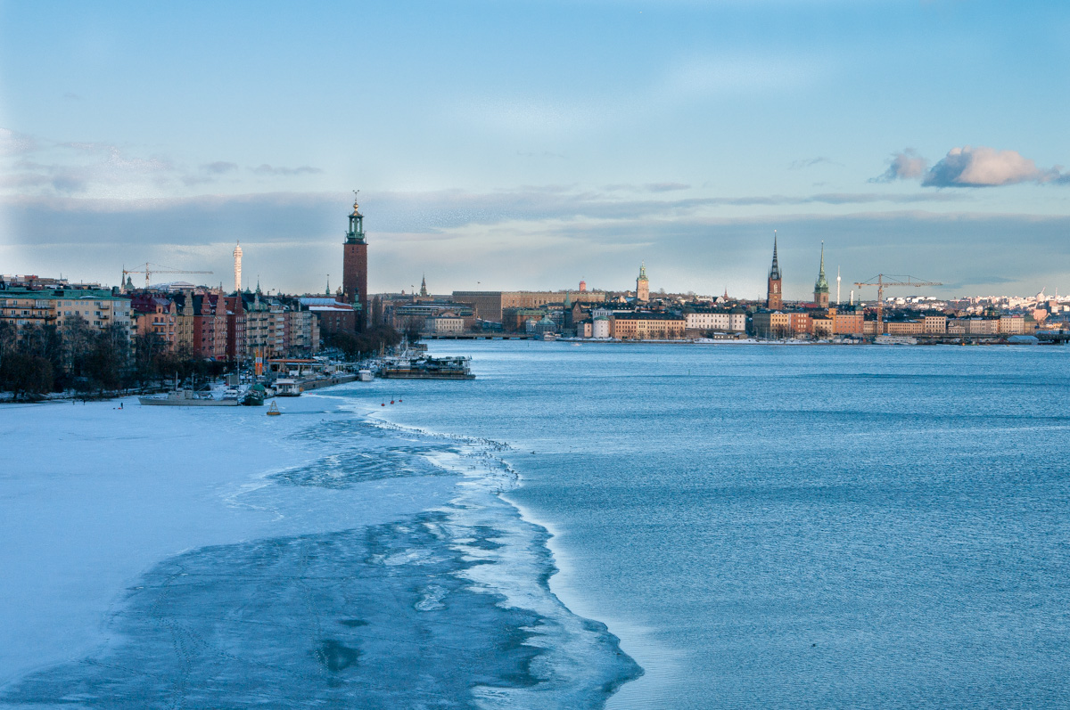 Stockholm im WInter - Blick von Västerbron