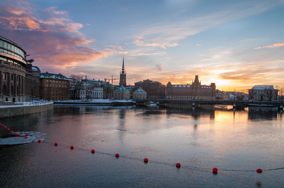 Stockholm in Winter - Blick auf Riddarholmen