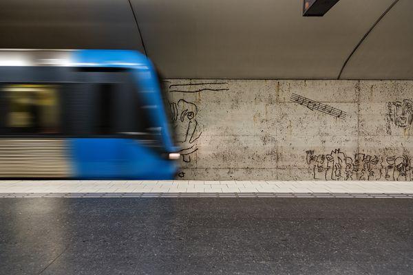 Stockholm - Kunst in der U-Bahn