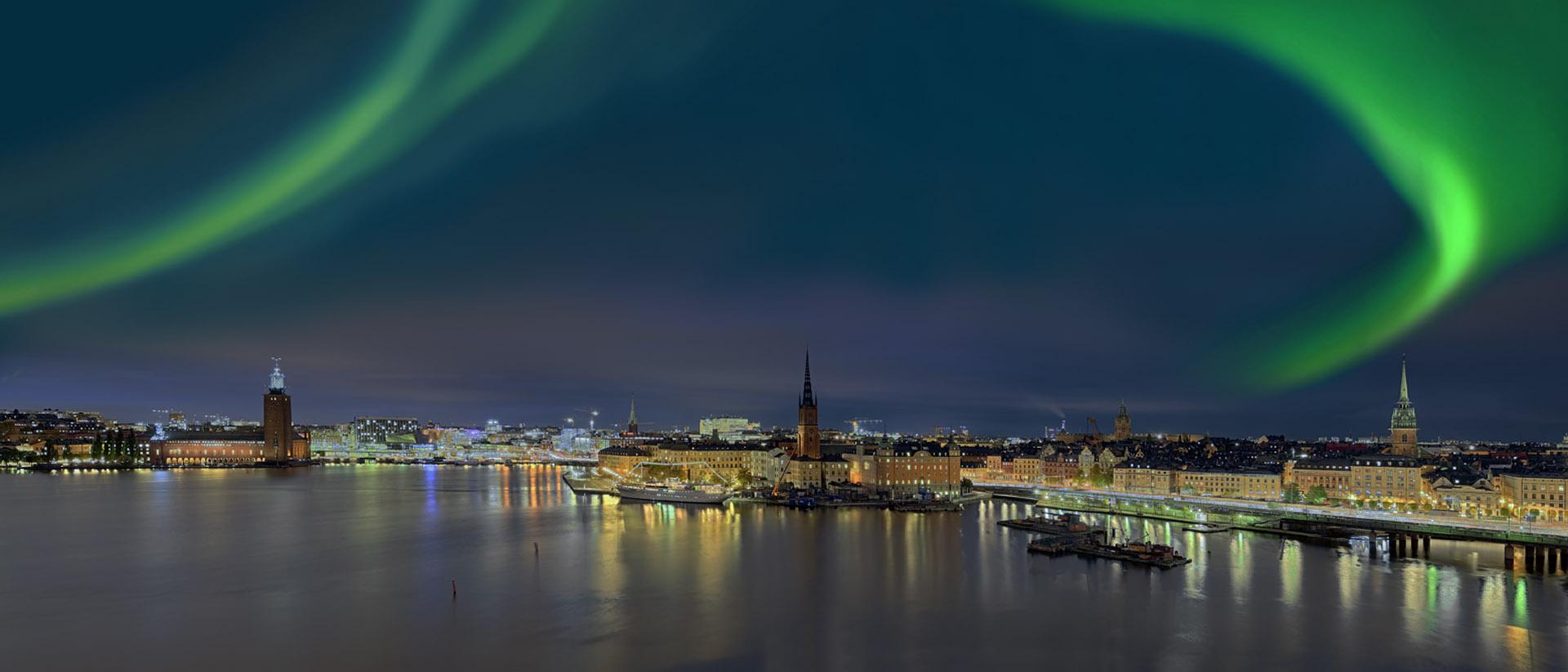 Stockholm Nordlichtpanorama