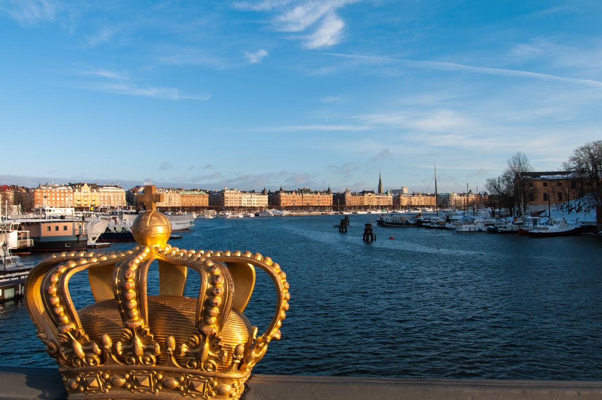 Stockholm Winter - Blick auf Strandvägen