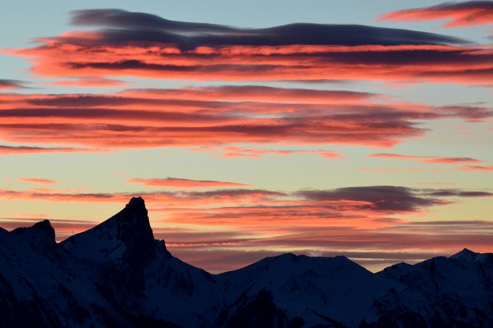 Stockhorn Abendlicht