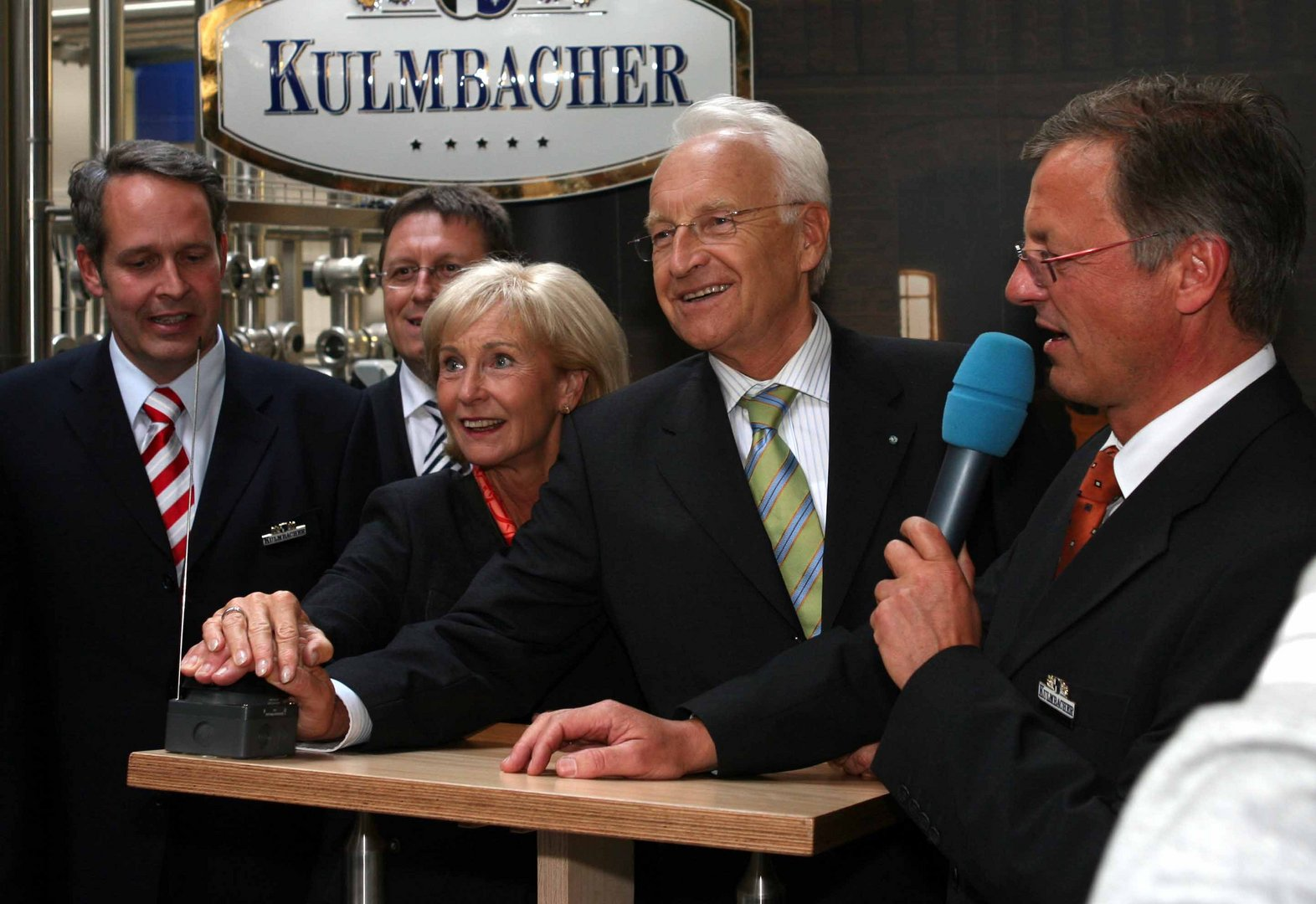 Stoiber bei Brauerei Kulmbacher