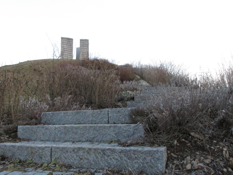 """""""Stonehage"""" Aschheim bepflanzte Treppe"""