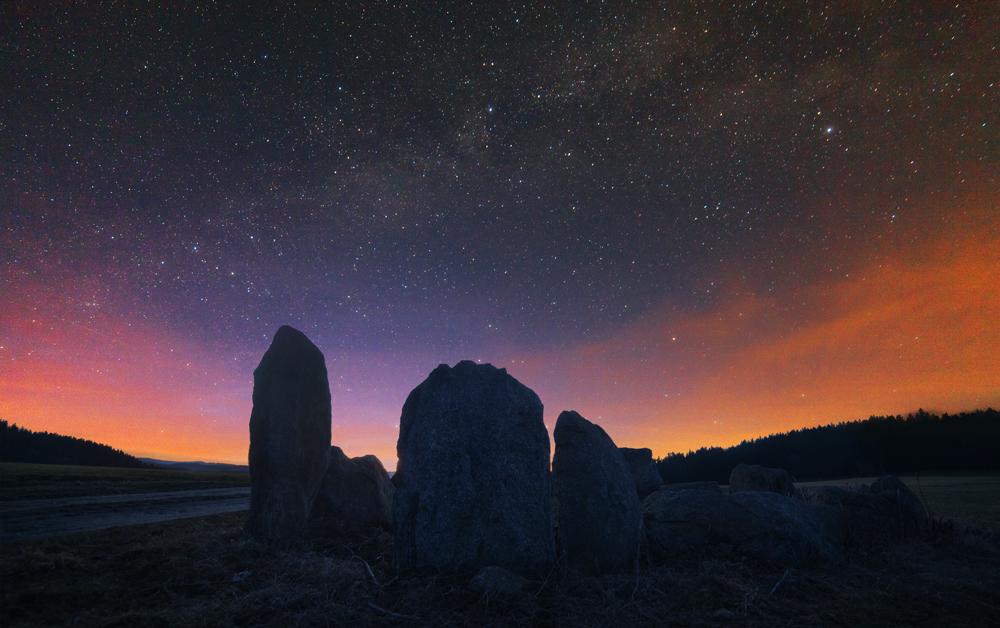 Stonehenge und Komet Panstarrs
