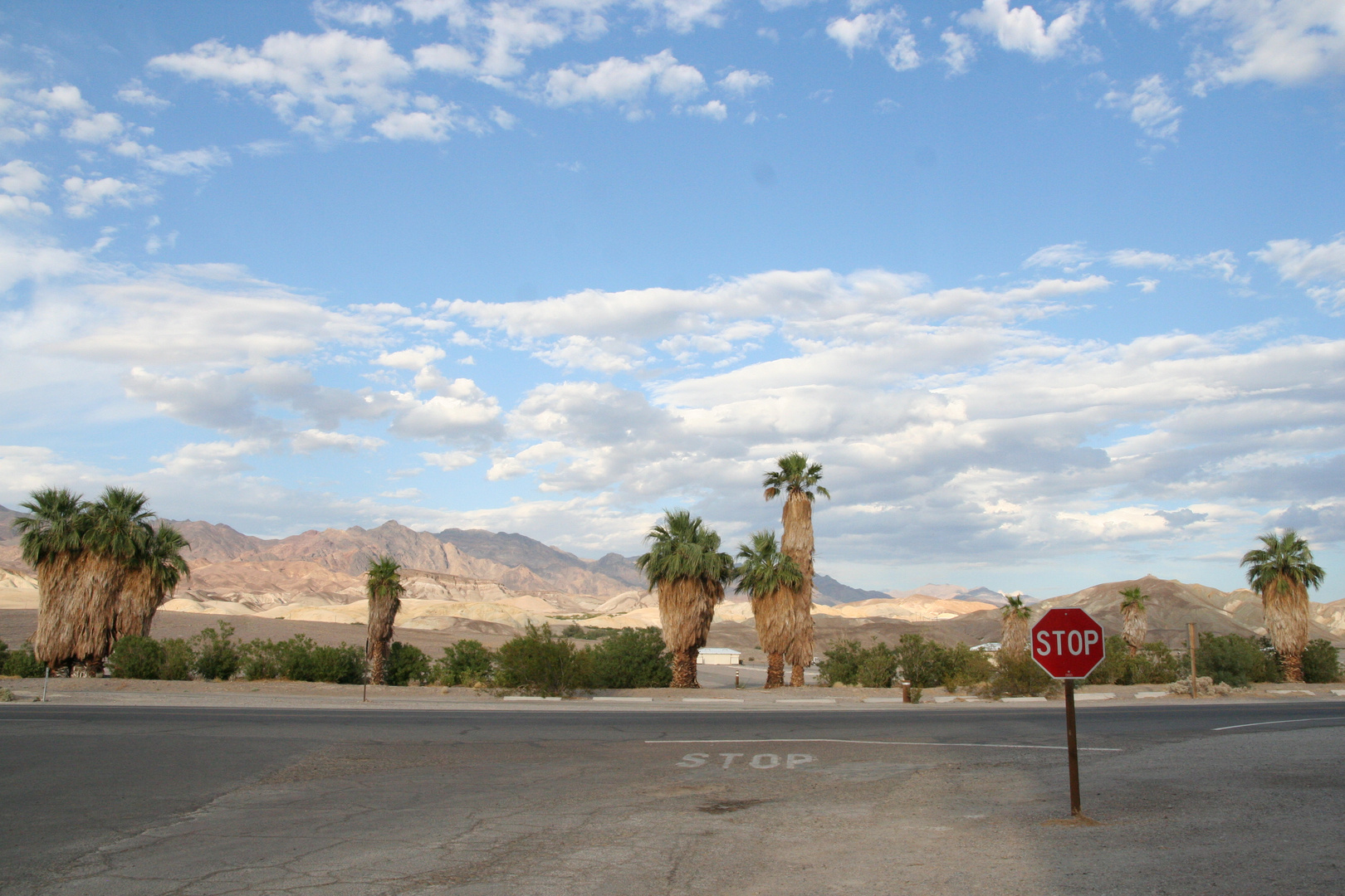 Stop - ab hier Wüste