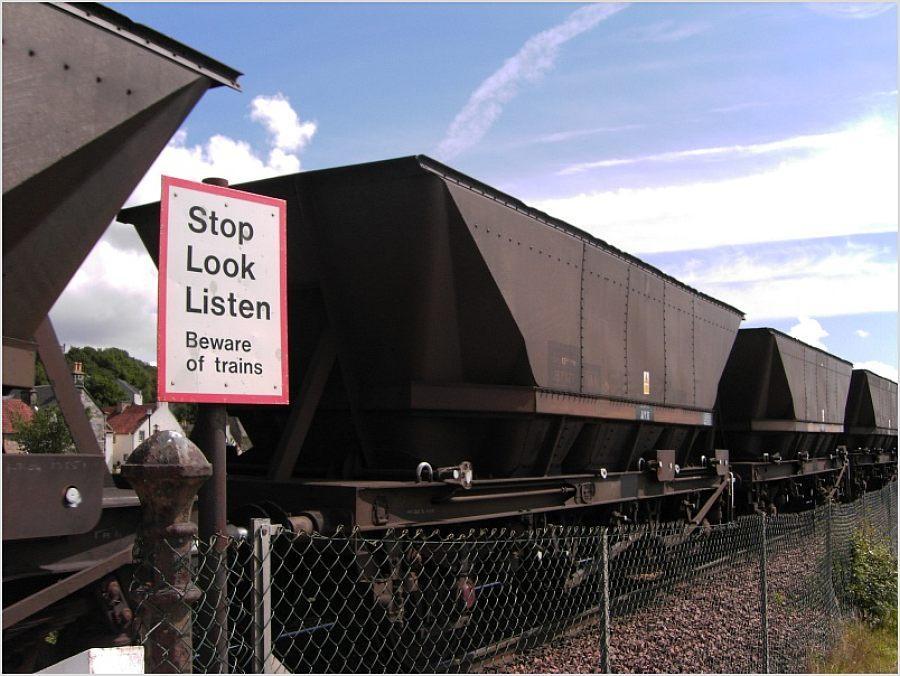Stop - Look - Listen - Beware of trains