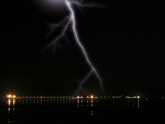 storm over broome jetty