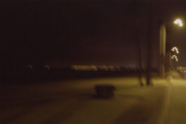stormy night at newport beach