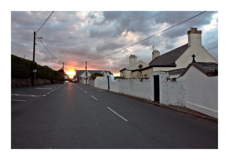 Strada del tramonto